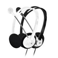 轻便耳机带麦台式电脑耳带话筒笔记本双孔耳
