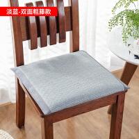坐垫夏季冰凉透气家用椅垫带绑带 学生加厚冰丝凉席榻榻米垫子