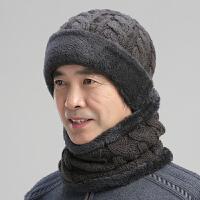帽子男冬季保暖防风针织毛线帽中老年老人老头棉帽子