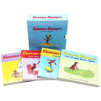 英文原版�L本 英文原版�L本 Curious George's Box of Books好奇猴�讨� 4�蕴籽b 低幼����英