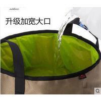 旅游便携时尚洗脚盆户外水桶水盆轻便便携加大容量10L折叠洗脸盆旅行