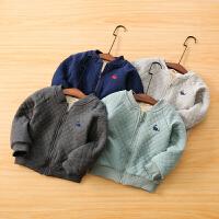 男童夹棉外套秋冬宝宝休闲夹克儿童棉衣外套