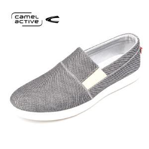 骆驼动感(camel active)春季男士简约帆布鞋韩版休闲套脚板鞋男布鞋