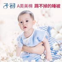 子初 四季婴儿纱布背心睡袋 新生儿睡袋薄款 儿童无袖睡被防踢被