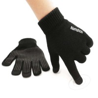 情侣户外骑行手套触屏毛线手套男士防滑开车保暖冬季女加绒