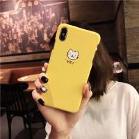 简约小狗小猫手机壳iphone8/7plus防摔6SP半包XR硬批发 苹果X/XS-5.8寸小猫 MIU
