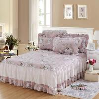 单品床罩床上用品全棉斜纹床罩荷叶边纯棉单床裙单件
