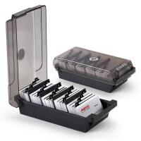 杰丽斯名片盒 名片收纳盒 整理盒 名片架 名片夹 商务名片卡包 名片座 500/1000张可选