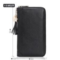 卡包女式韩版多卡位牛皮大容量真皮卡夹拉链卡包*套薄卡片包 长款