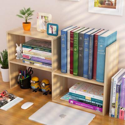 御目 书架 简约现代学生桌上书架书柜简易组合儿童桌面小架子创意办公置物架书柜子以颜色图尺寸为准