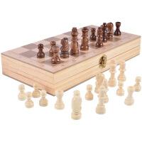 木制国际象棋 双陆棋 二合一棋 儿童益智玩具多功能棋