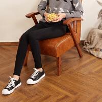 【2件3折价59.5元】唐狮秋装新款黑色牛仔裤 女小脚裤弹力铅笔裤烟灰色牛仔裤女长裤