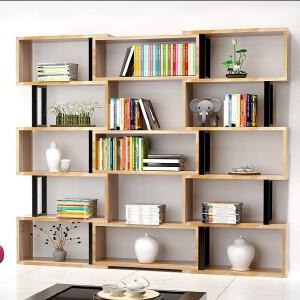 富兰迪 环保加厚创意S型组合书柜 亲子儿童学生DIY多层书橱组合收纳架落地置物架