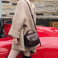 真皮斜挎包女包包新款时尚百搭复古马鞍包红色牛皮女包