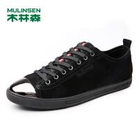 木林森男鞋 新款时尚潮鞋牛皮休闲板鞋 耐磨简约时尚男板鞋05177301