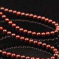 小叶紫檀圆珠三圈长链(多尺寸可选)木手链