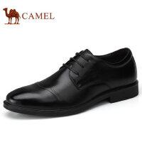 camel 骆驼男鞋秋冬新品商务正装皮鞋真皮低帮系带男士皮鞋子