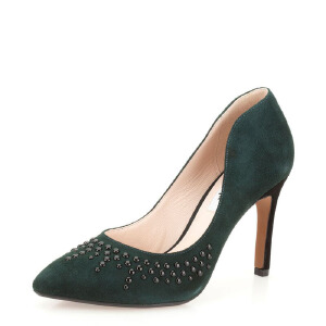Clarks/其乐女鞋2017秋冬新款时尚晚宴正装高跟单鞋Azizi Verdi专柜正品直邮