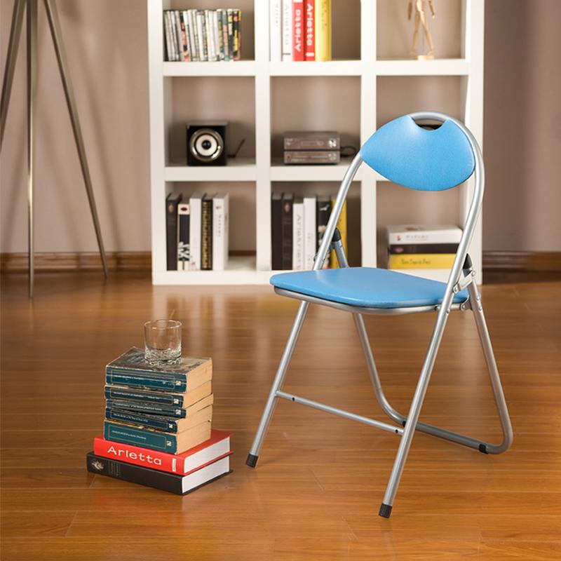 [当当自营]好事达 带孔扇形钢折椅6598蓝 椅子 折叠椅 餐椅