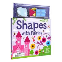 Magnetic Shapes With Fairies 磁贴英语启蒙系列 和仙子一起认识形状 儿童英文原版图书