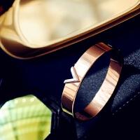 简约钛钢精致手镯手环
