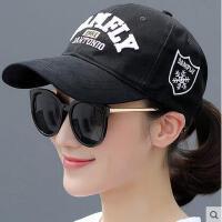 棒球帽鸭舌帽韩国学生街头百搭帽子女夏天韩版潮人平沿帽男嘻哈帽可礼品卡支付