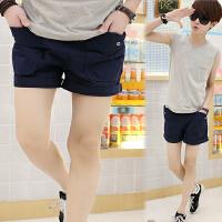 夏款大口袋三分裤男士运动短裤气质休闲短裤宽松3分裤沙滩裤