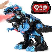 恐龙玩具大喷雾霸王龙变形机器人电动充电遥控仿真动物男孩玩具