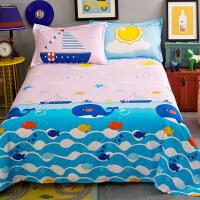 御目 儿童床单 透气舒适全棉斜纹床单单件双人卡通动漫纯棉被单单人1.2宝宝小孩学生宿舍1.5m1.8米亲肤床品