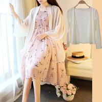 孕妇夏装连衣裙两件套套装2018时尚新款韩版裙子春夏季吊带中长裙