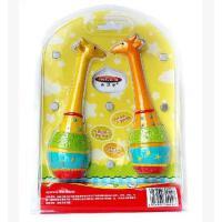 美贝乐ms0022鹿鹿沙锤卡通塑料玩具 长颈鹿沙锤益智婴幼儿玩具