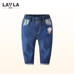 LAVLA童装男宝宝牛仔长裤  春秋款儿童牛仔裤3-4-5岁童裤