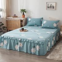 纯棉床罩床套防滑床裙式单件全棉保护防尘罩1.5米1.8m床单三件套