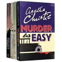 马普尔小姐探案第四季4册 英文原版 Miss Marple 阿加莎系列侦探小说 黑麦奇案 借镜杀人 悬崖上的谋杀 全进口