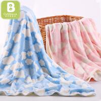 卡伴浴巾儿童新生儿毛巾被云朵浴巾超柔吸水婴儿宝宝洗澡巾夏季盖毯75*150