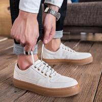 韩版小皮鞋男士松糕休闲鞋厚底板鞋复古男鞋LES帅T潮鞋潮小白鞋