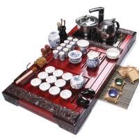 尚帝 整套紫砂陶瓷茶具套装 红双龙茶盘电磁炉套装 功夫茶具套装XM548DYPG1