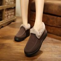 2019新款老北京棉鞋女士冬季短筒加厚加绒保暖雪地靴中老年妈妈鞋