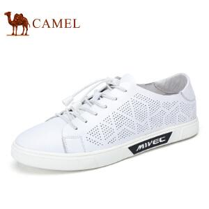 camel骆驼男鞋    夏季新品   时尚休闲简约滑板鞋舒适轻盈牛皮鞋