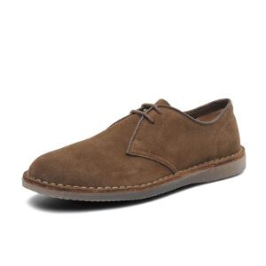 Clarks/其乐男鞋2017秋冬新款休闲系带皮鞋Darning Walk专柜正品直邮