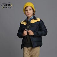 男童短款羽绒服 儿童加厚衬衫款羽绒服外套韩版冬装童装小虎宝儿