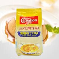 雀巢三花果�龇�500g焦糖味布丁粉甜品�c心 烘焙原料