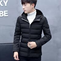男士冬季棉衣男中长款韩版修身加厚冬装外套青年学生棉服棉袄140