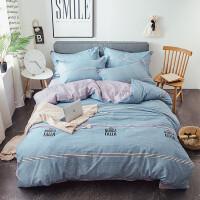 20191106183012985新款全棉四件套纯棉双人床单被套被子宿舍三件套床上用品