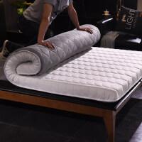 榻榻米床垫床褥学生单人宿舍海绵垫加厚1.8m家用1.5m床双人 10cm厚针织布床垫 白灰