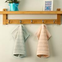 【2条装超值】纯棉大方巾 毛巾全棉 家用洗脸面巾 柔软吸水不掉毛 34x34cm