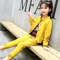 女童秋装套装大童春秋装儿童秋季运动洋气时髦潮衣服