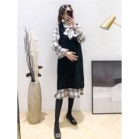 2019新款毛衣长款两件套秋冬显瘦套装孕妇装孕妇春装连衣裙时尚款