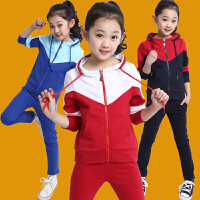 女童秋装套装2017新款夏儿童衣服中大童运动服春秋童装两件套
