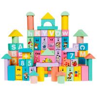 儿童积木玩具1-2周岁宝宝3婴儿女孩男孩木头拼装益智力动脑大颗粒